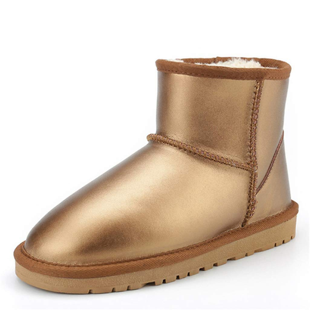 Fay Waters Womens Winter Snow Boots Nice Genuine Sheepskin Lined Warm Shoes Outdoor Ankle Booties