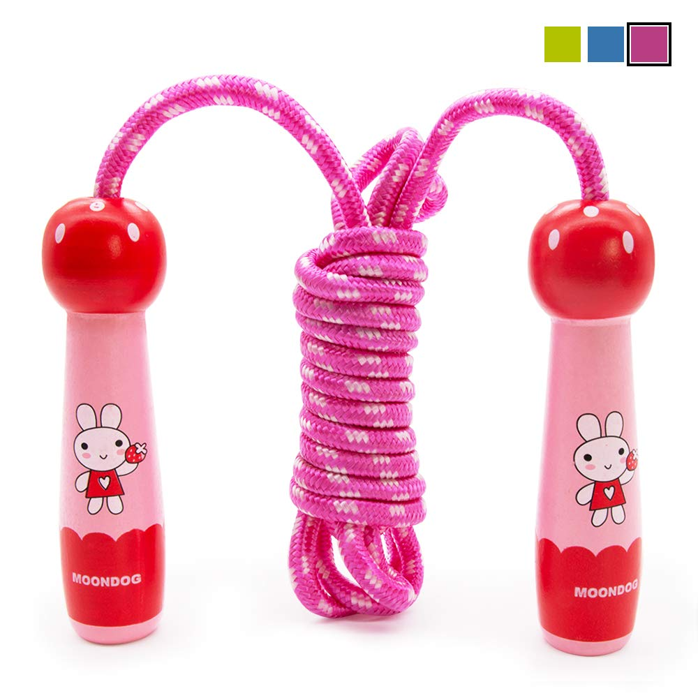 SPECOOL Skipping Rope 3M Adjustable Speed Rope with Wooden Handle Suitable for Kids Children School Game Outdoor Activity Fitness Fat Burning Exercises