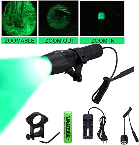 Vastfire 350 Yard Zoomable CREE Green Flashlight Kit