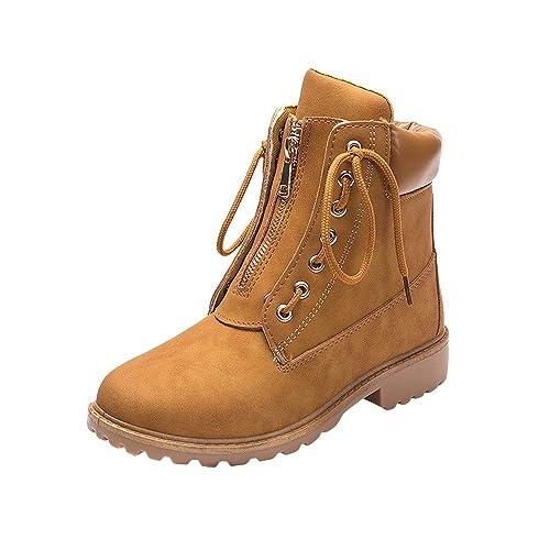 Tefamore Botas de Mujer Punta Redonda Botas Moda Zapatos Otoño/Invierno 2018 Botas de Nieve Mujer Martin Botas Moda Ankle Zapatos Botines: Amazon.es: ...