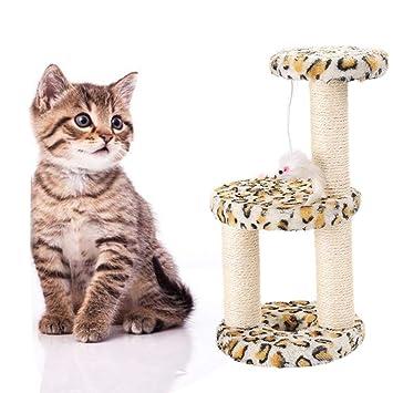 Amazon.com: GL-hotma Árbol para gatos, 3 capas, desmontable ...
