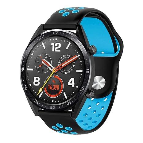 Kokymaker Bracelets en Silicone pour Bracelet à molette réglable 22mm Huawei Watch GT de Huawei Watch