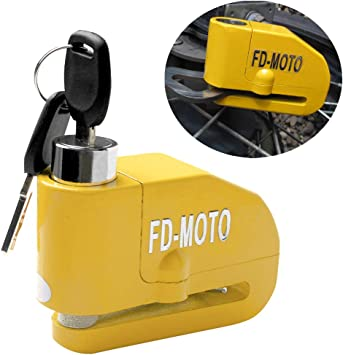 FD-MOTO 110dB Alarm Motorbike Brake Disc Lock 7mm Pin 1.5M Cable for motorcycle bike bicycle anti-theft