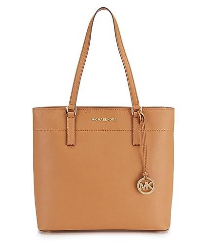 0b1f203d3645 Amazon.com: MICHAEL Michael Kors Womens Morgan Pebbled Carryall Tote  Handbag Brown Large: Shoes