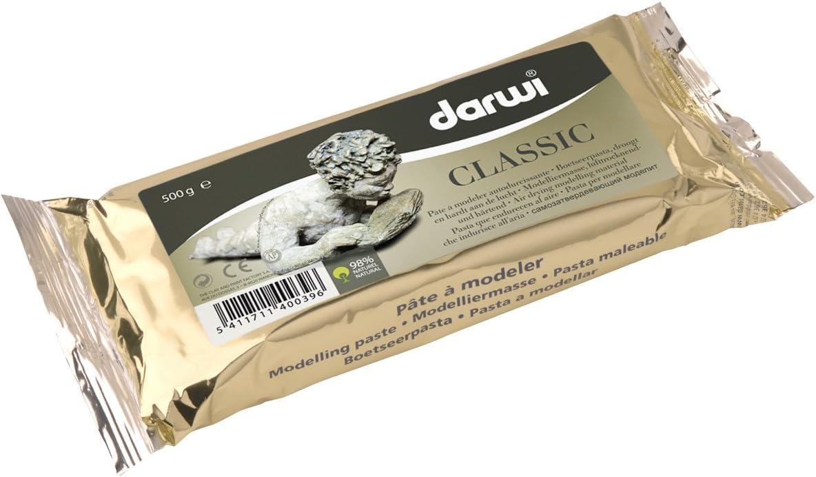 """Modelliermasse /""""Darwi Classic/"""" 1000g 1kg weiß selbsthärtend lufttrocknend"""