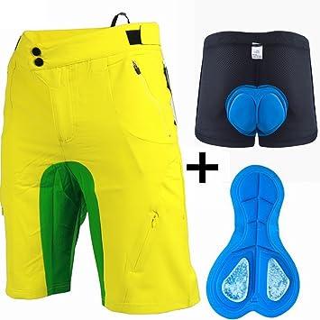 Seve7 Pantalones Cortos De Ciclismo Pantalones Cortos De Descenso + Ropa Interior Para Bicicletas Pantalones Cortos