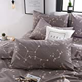BuLuTu Constellation Pillow Cases Queen Cotton,Soft Pillowcases Set of 2 Queen Pillow Covers Decorative for Kids Adults Envelope Closure-Premium,Hypoallergenic,Breathable