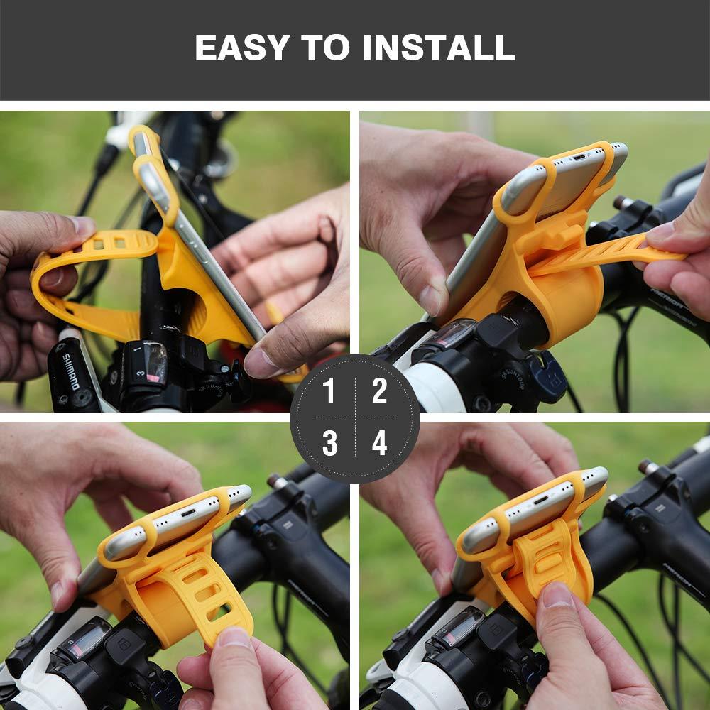 Amazon.com: CYCLEPARTNER Universal Bike Phone Mount ...