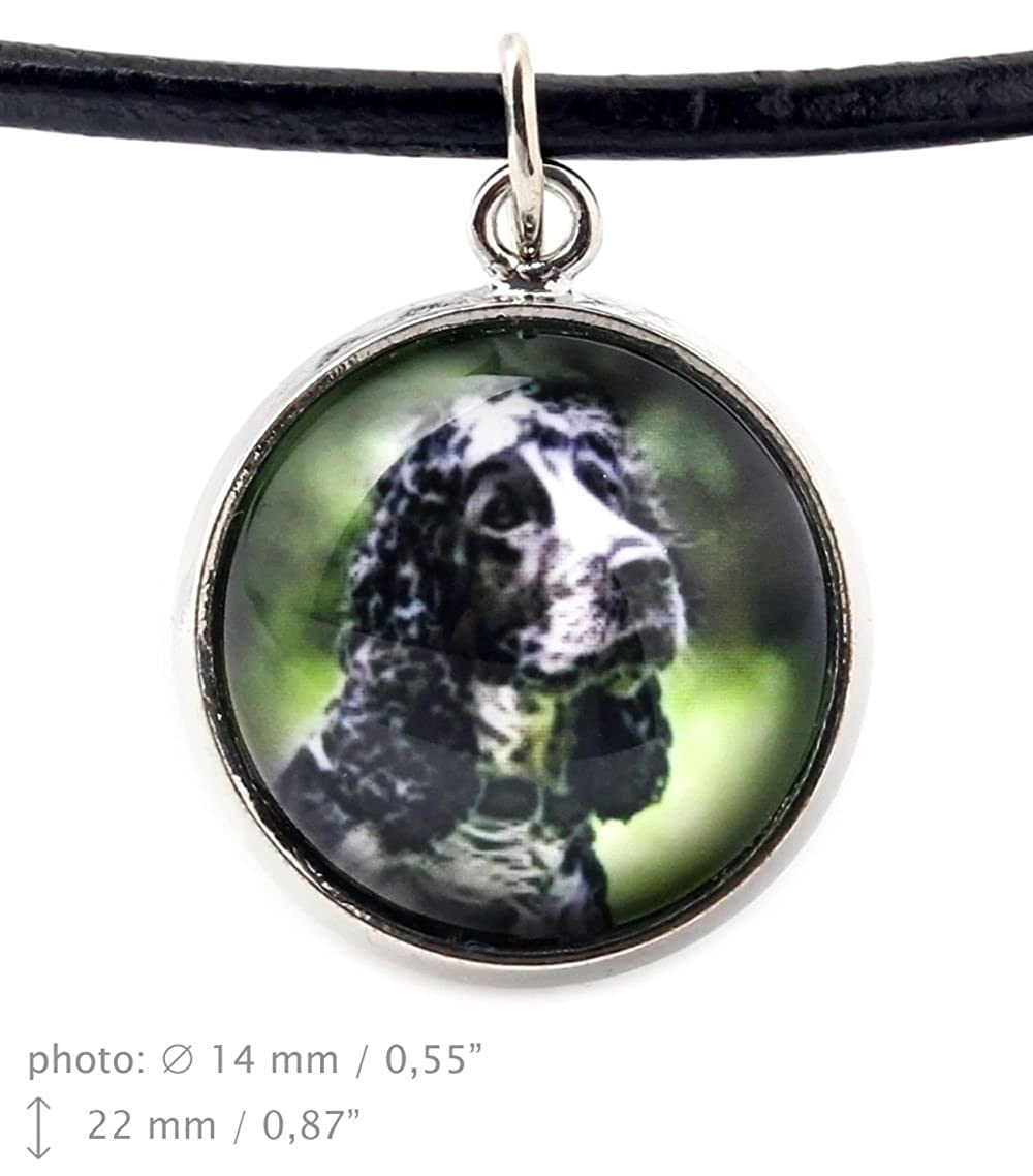 American Cocker Spaniel Photo Jewelry Handmade Art Dog Ltd Necklace for People who Love Dogs