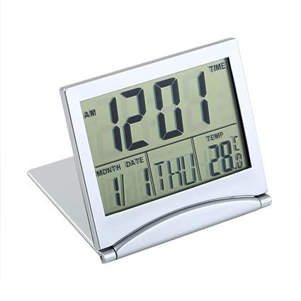 Original Modern Digital Alarm Clock Lcd Display Calendar Snooze Thermometer Alarm Clock Office Desktop Table Clock Low Price Office & School Supplies