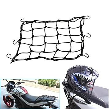 SUNTRADE Adjustable Bungee Cord Cargo Net Motorcycle Helmet Mesh Storage Tie Down BLACK