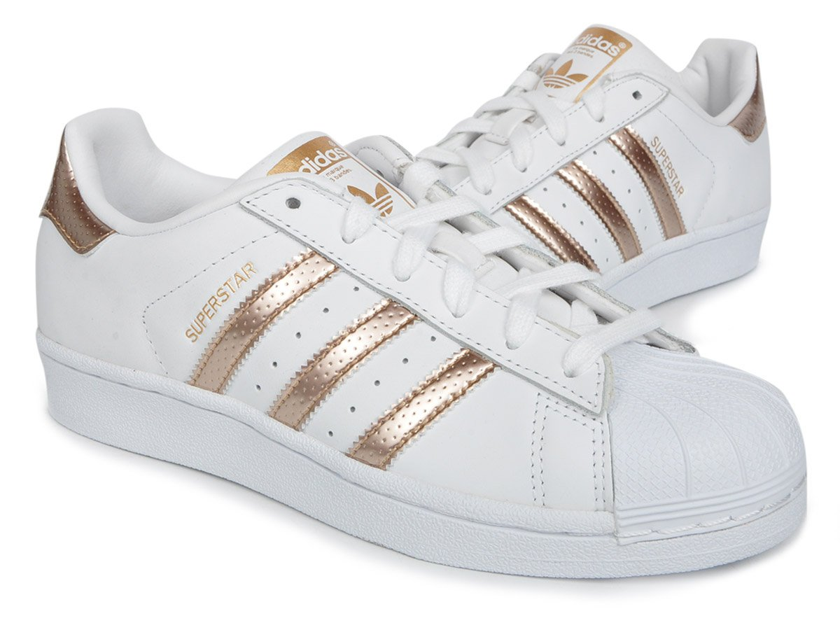 adidas superstar women 39 s trainers ba8169 rose gold white. Black Bedroom Furniture Sets. Home Design Ideas