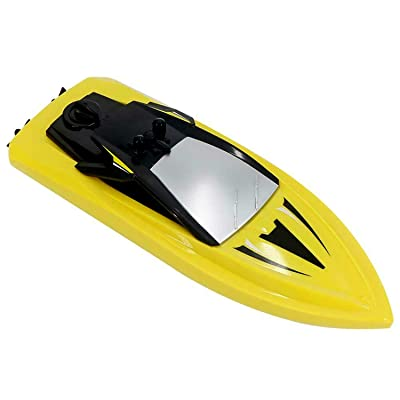 POCO DIVO Q5 Mini Boat 2.4Ghz RC Racing Boat Remote Control Dual Motor Yacht Kids Pool Toy Ship, Yellow: Toys & Games