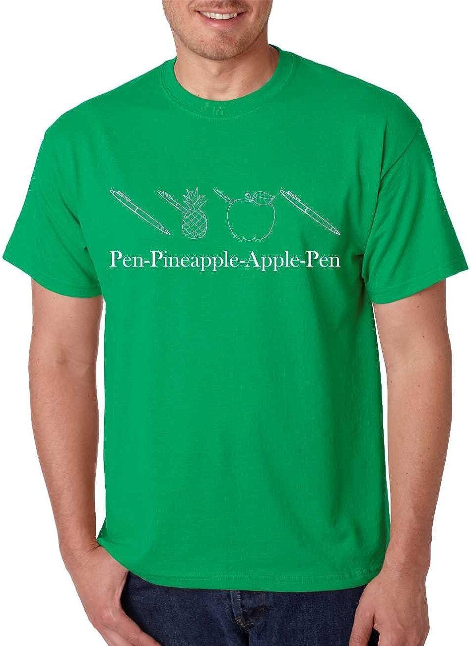 ALLNTRENDS Men's T Shirt Pen Pineapple Apple Pen PPAP CHEE Humor Tee