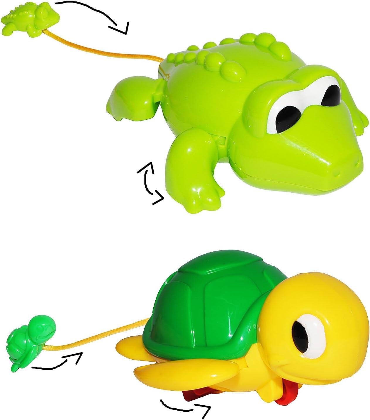 incl f/ür Badewanne // Badespielzeug schwimmendes Krokodil mit Baby Wassers.. zum Aufziehen alles-meine.de GmbH Badewannenspielzeug im Wasser // Fu/ßboden Name aufziehen