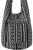 Tribal Hmong Striped Ethnic Cotton Boho Sling Shoulder Thai Pattern Crossbody Bag Thai Top Zip Asia Bag