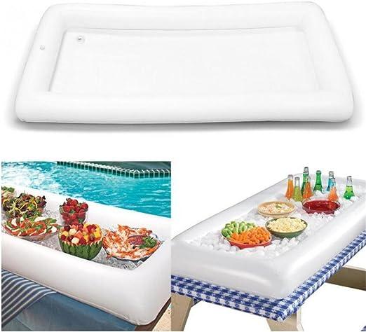 VALINK - Barra hinchable para mesa de piscina, bandeja grande para ...