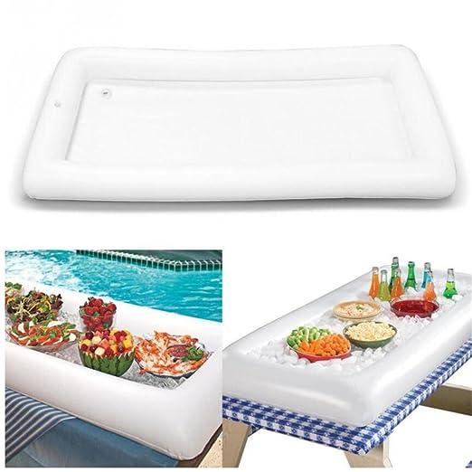 VALINK - Barra hinchable para mesa de piscina, bandeja ...