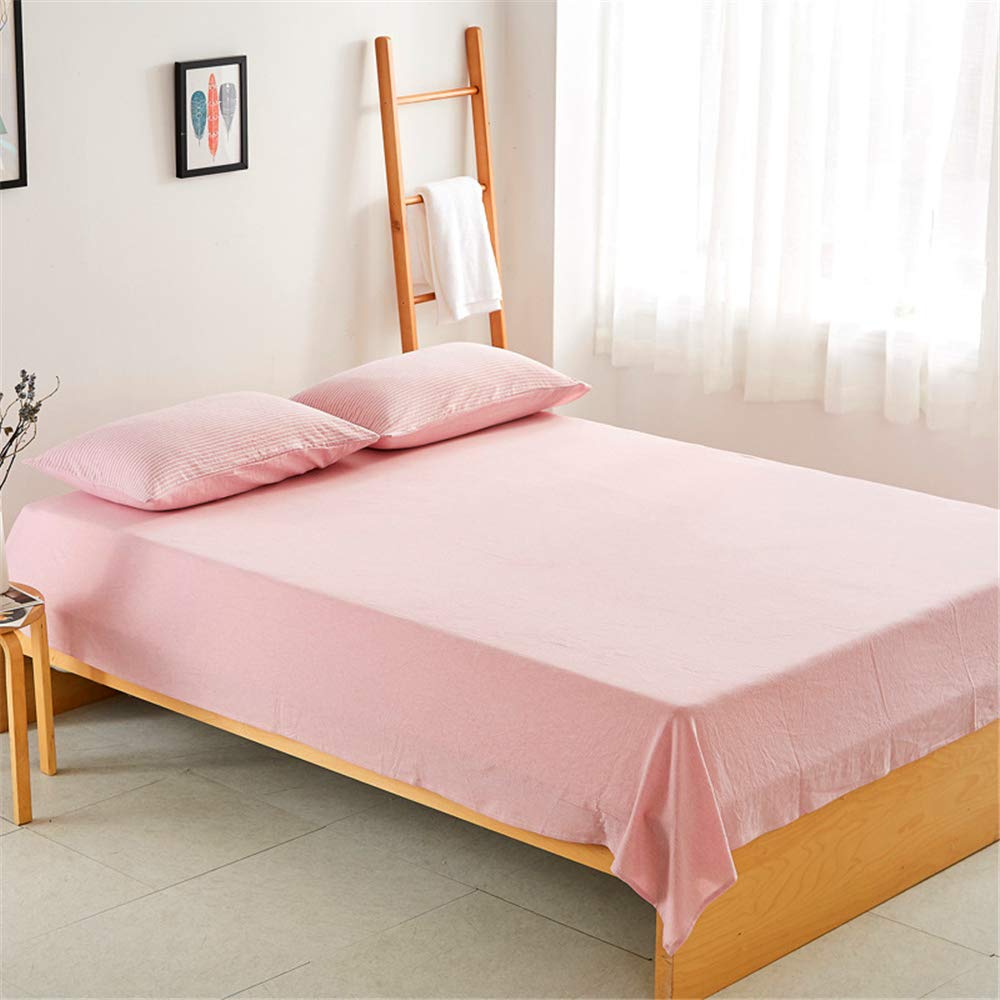 Japanese Style Simple Feng Shui Cotton Sheets Bedspread Sheets Cotton Bedding 1.5 1.8 Manufacturers Wholesale Light Pink 200230cm by iangBaoyo