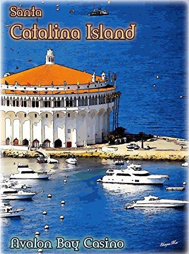 MAGNET Santa Catalina Island Avalon Bay California US Travel Advertisement Magnet