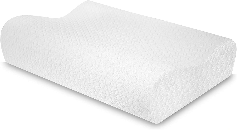 SensorPEDIC Gel-Overlay Contour Pillow, White