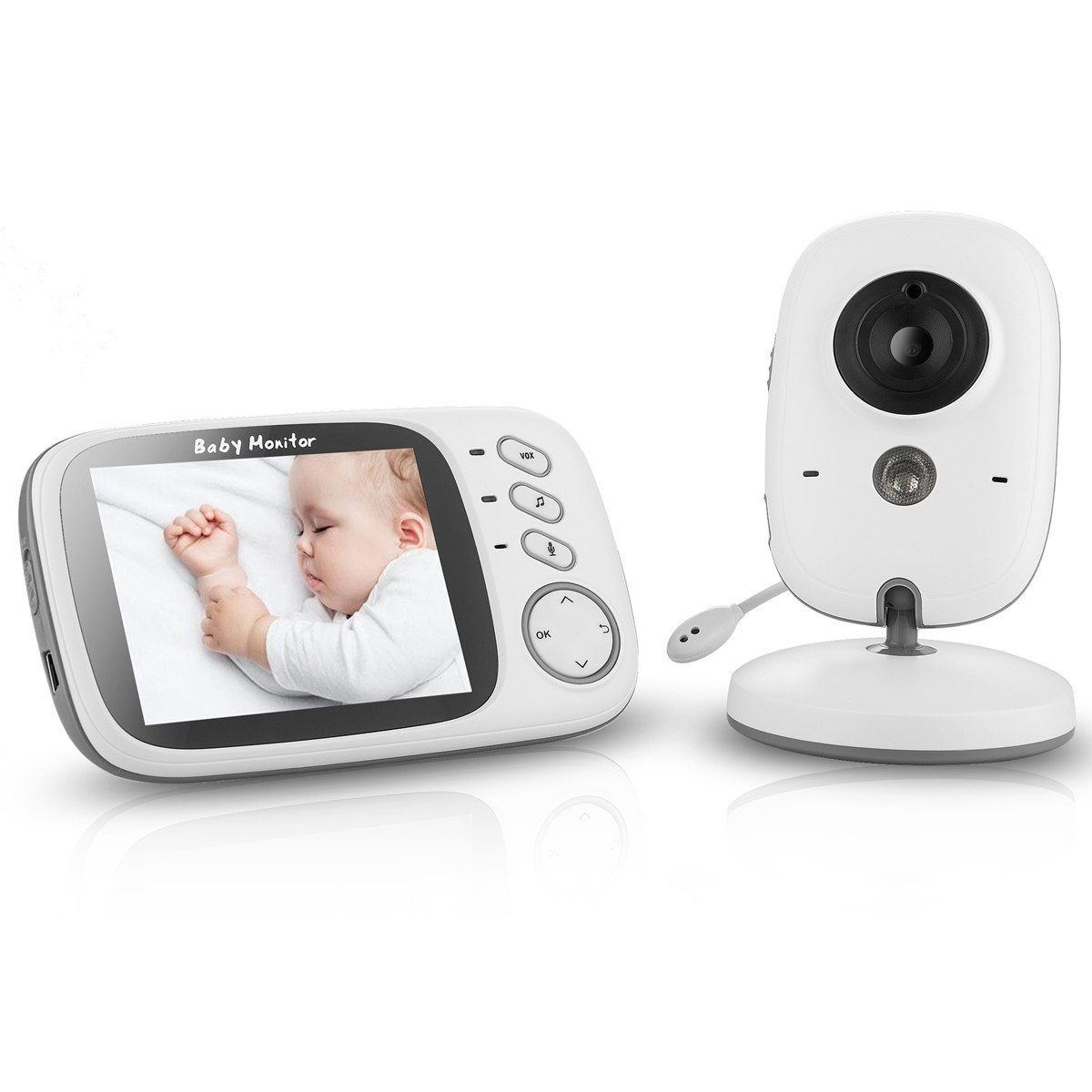 Vigilabebés VOSMEP  Pulgadas Baby Monitor LCD Digital Vídeo Audio Baby Phone