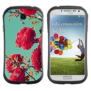 Suave TPU GEL Carcasa Funda Silicona Blando Estuche Caso de protección (para) Samsung Galaxy S4 I9500 / CECELL Phone case / / Bush Pink Red Teal Sky Nature Blue /