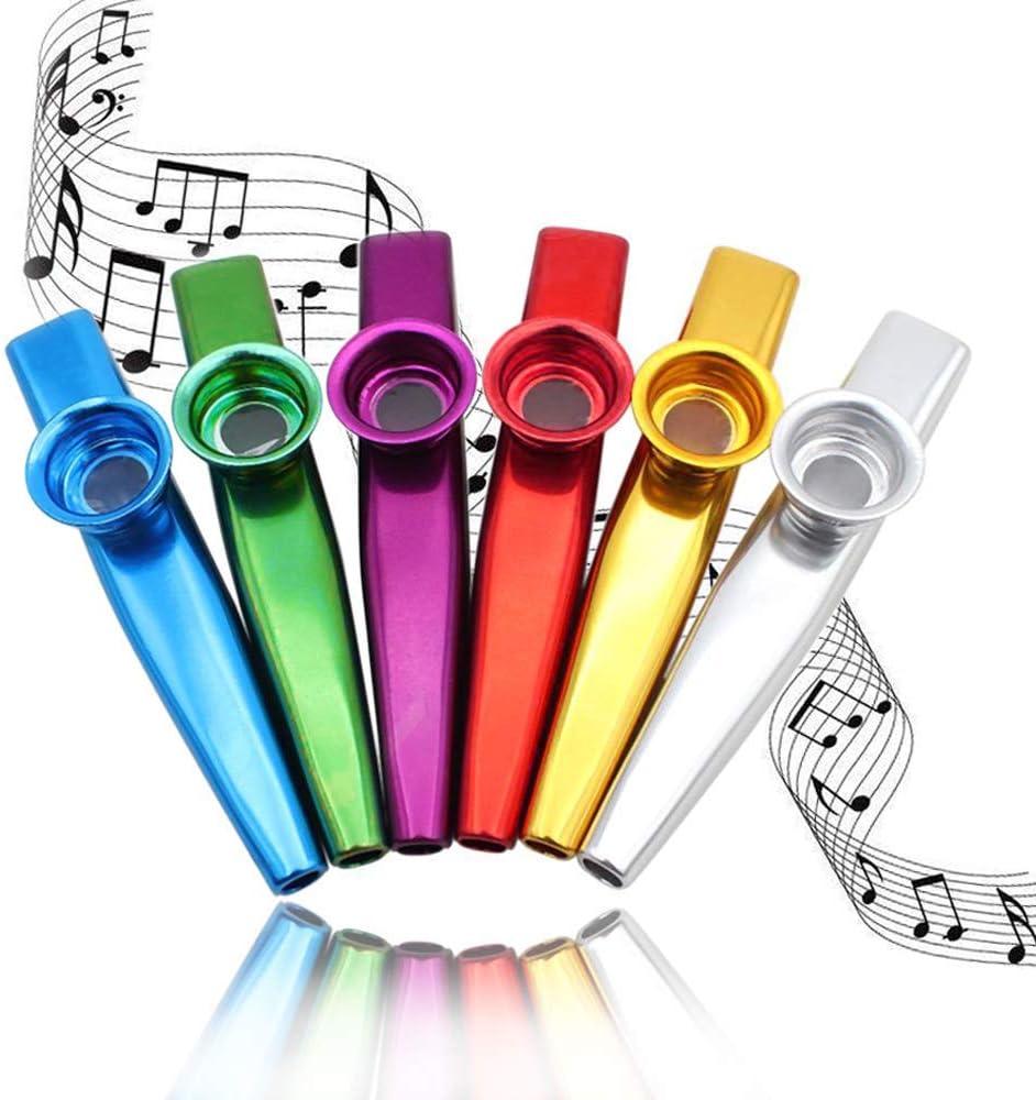CAILI Juego de 6 Coloridos Metal Kazoo,Kazoo metálico Calidad de ...