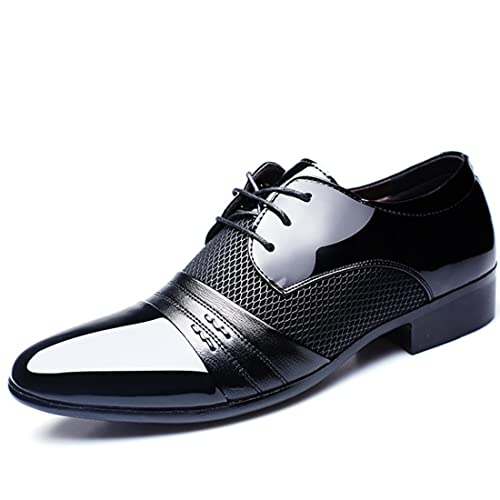 2018 Collection Spring Fall Fashion Men Dress Shoes Patent Leather Oxford  Derby for Formal Leisure Wedding c2f551046e0a