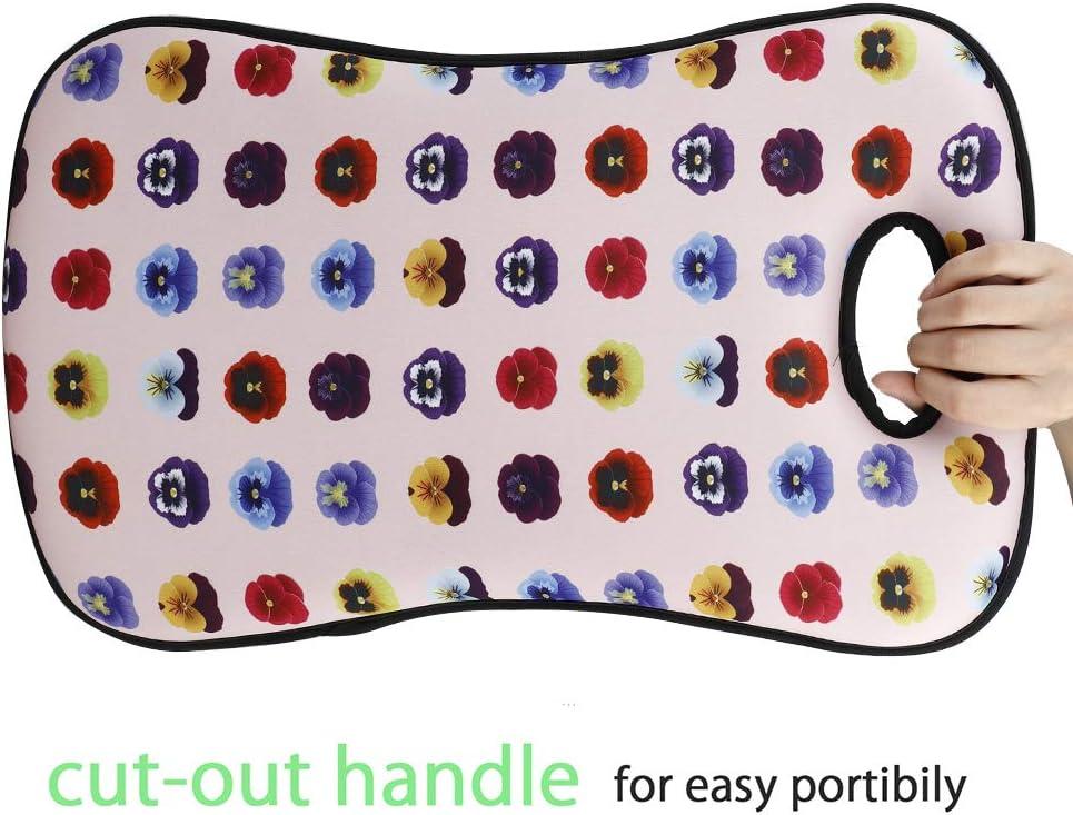 HERUNNA Tapis de Jardinage Portable pour Genoux Motif Floral 50 x 30 x 4,6 cm 19.7x11.9x1.8inch Armygreenn+Black