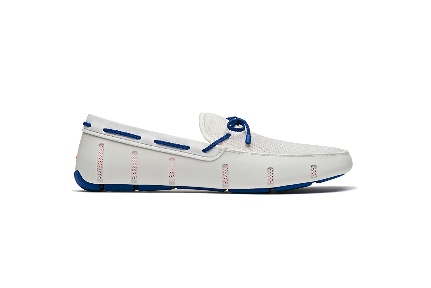 White bluee Swims Braided Lace Loafer