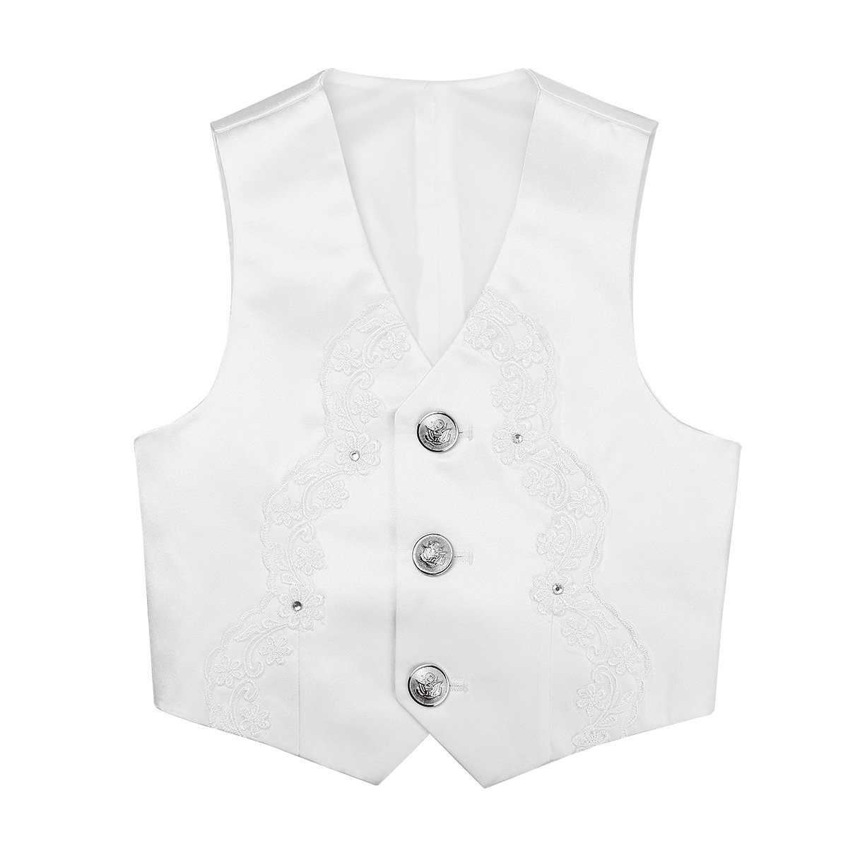iEFiEL Kids Boys' Wedding Formal Waistcoat Stage Show Performance Gentleman Vest