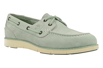 Timberland Damen Classic Boat Unlined Boatsilt Green Buttersoft Bootsschuhe, Grün (Silt Green Buttersoft), 41 EU