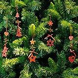 jack and sally car seat covers - Christmas Tree Ornaments Snowflake Heart Star Bell Xmas Party Home Christmas Decor Navidad Decoration (Heart)