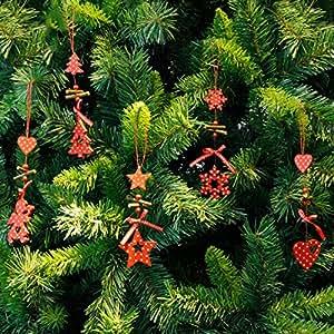Christmas Tree Ornaments Snowflake Heart Star Bell Xmas Party Home Christmas Decor Navidad Decoration (Heart)
