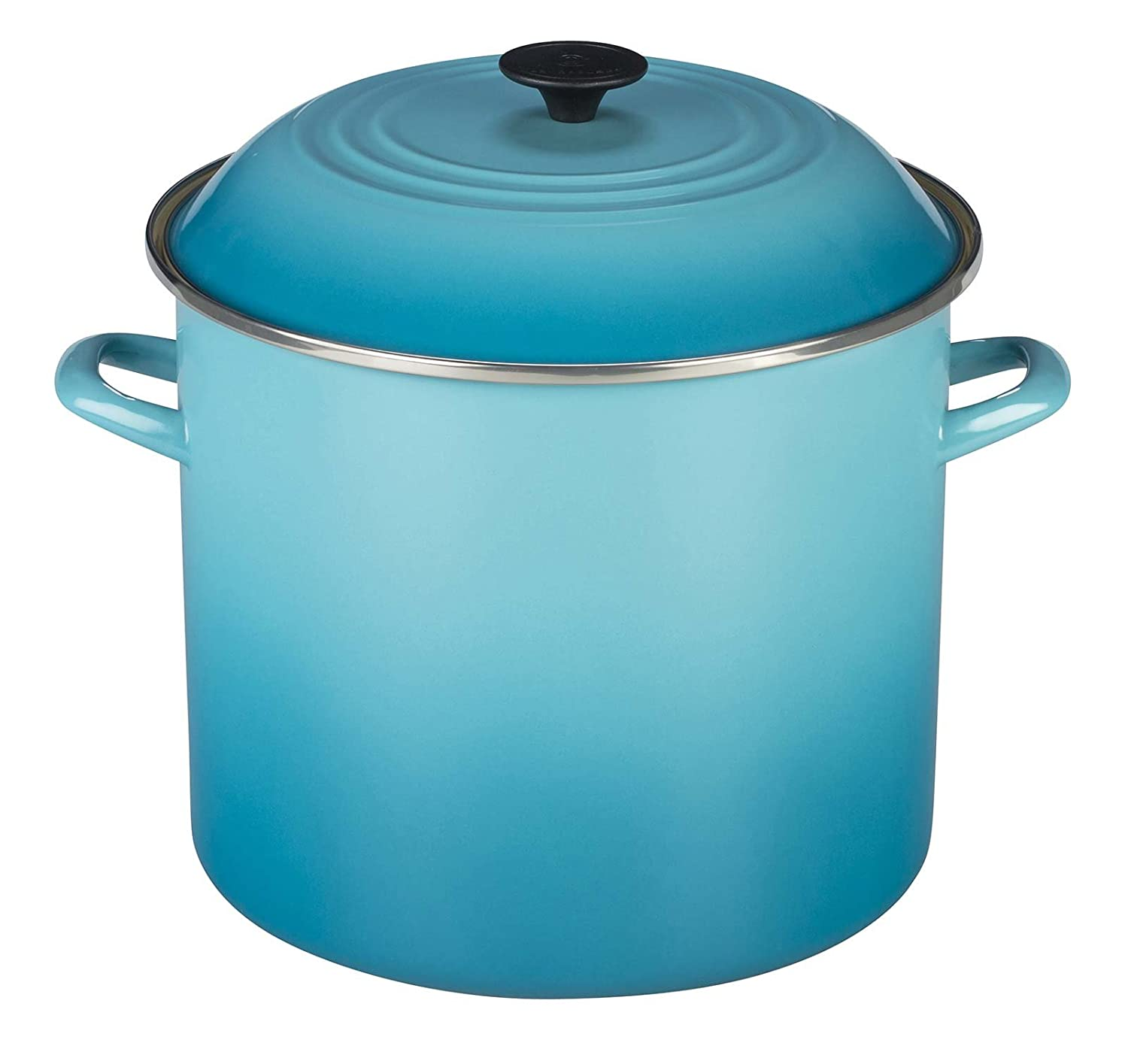 Le Creuset Enamel-on-Steel 8-Quart Covered Stockpot, Caribbean