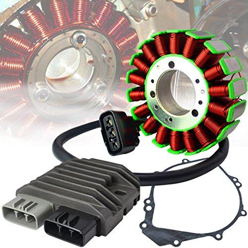 eMotorcycleUSA OEM Replacement Stator + Regulator Refectifier + Gasket for 02-03 Yamaha YZF-R1