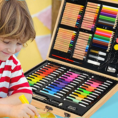Artist art drawing set, Inspiration Art Case For Portable Art And Coloring Products, 86 Pieces, Children's Gift Gloves, Advanced Artwork - Wooden Paintings, Paintings, Etc. Gifts for children and chil by JIANGXIUQIN (Image #3)