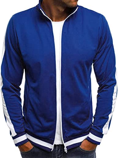 Mens New Sports Track Jacket Coat Hooded Lightweight Size Full Zip