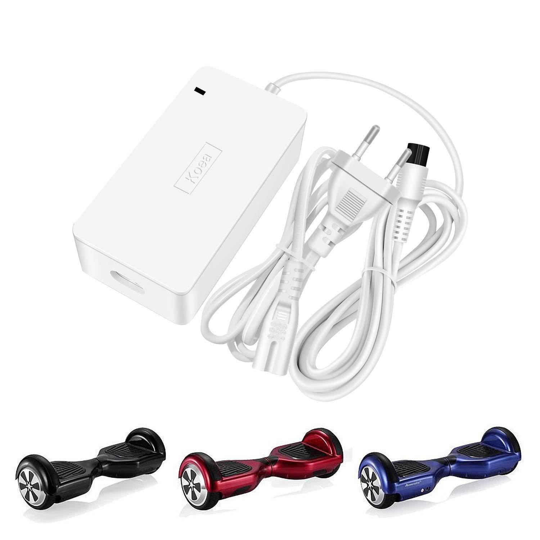 Koea 42V 1.5A Cargador de Batería para Dos Ruedas Mini Scooter, eléctrico Scooter Equilibrio monopatín Adaptador de Fuente de alimentación de ...
