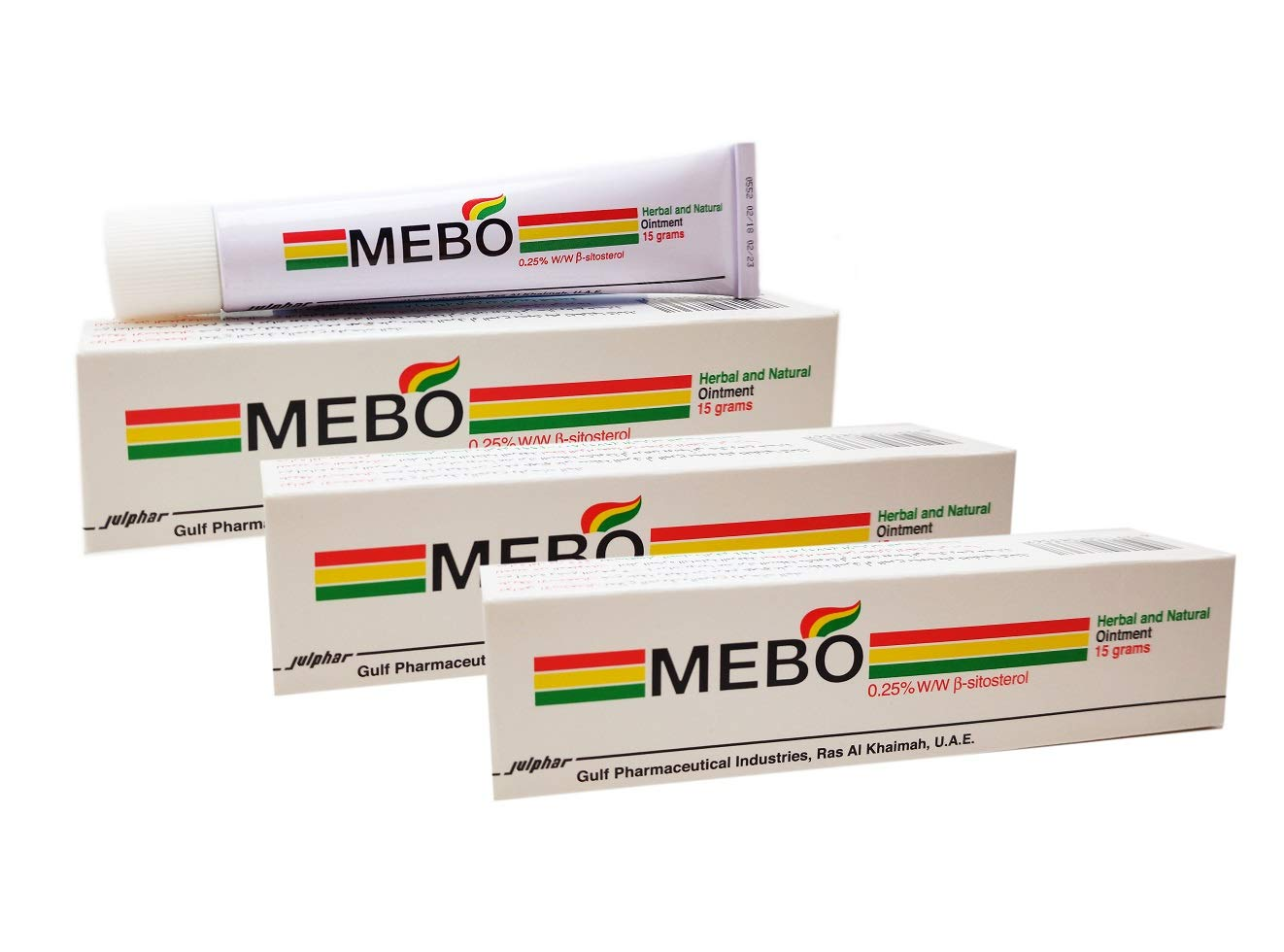 MEBO Burn Fast Relief Pain Cream Skin Healing Ointment Wound & Scar No Marks Care Fast First Aid Health Beauty Care (3 Tubes = 45 grams)