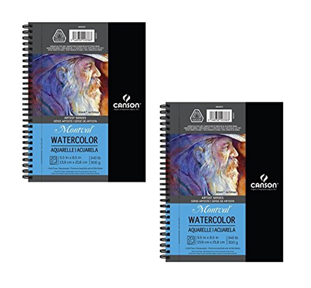 Canson Artist Series Watercolor Pad, 2 Pack Side Wire by Canson