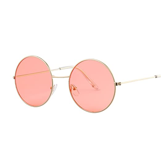 Amazon.com: Dormery Vintage Round Sunglasses Women Ocean ...