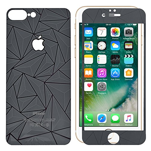 3D Diamond Tempered Glass Screen Protector iPhone 7 (Black) - 7