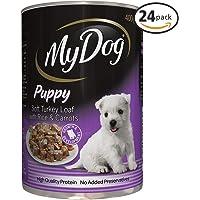 MY DOG Puppy Soft Turkey Loaf Wet Dog Food 400g Can 24 Pack