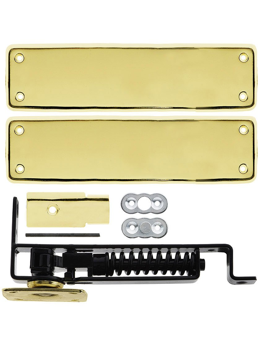 Deltana DASH95U3 Double Action Solid Brass Spring Hinge with Solid Brass Cover Plates