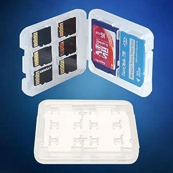 Estuche para Tarjeta SD/Micro SD De 8 Ranuras; Estuche De Almacenamiento De Tarjeta De Memoria. Cartera Dura.: Amazon.es: Electrónica
