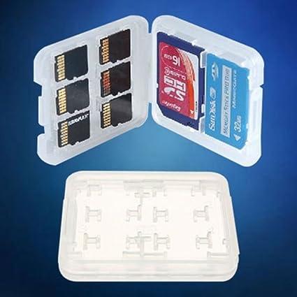 Estuche para Tarjeta SD/Micro SD De 8 Ranuras; Estuche De Almacenamiento De Tarjeta De Memoria. Cartera Dura.
