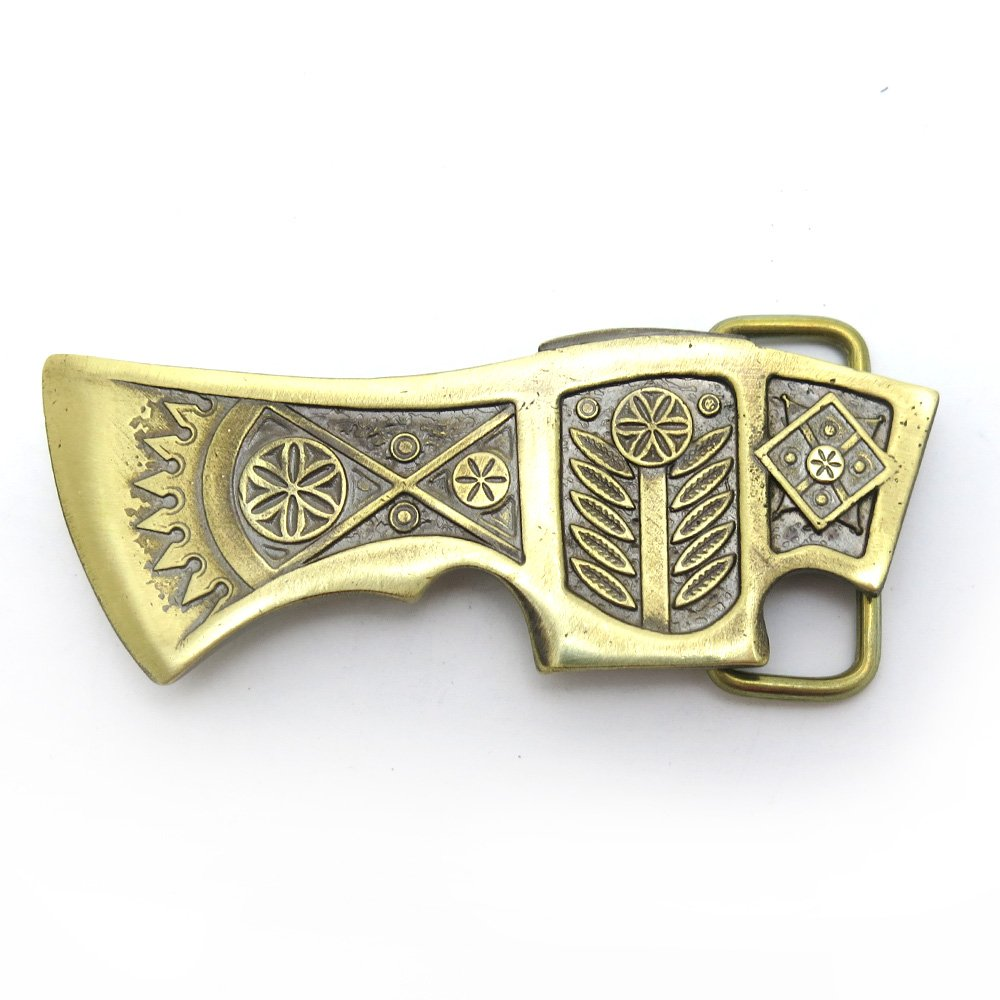 Axe Brass Belt Buckle