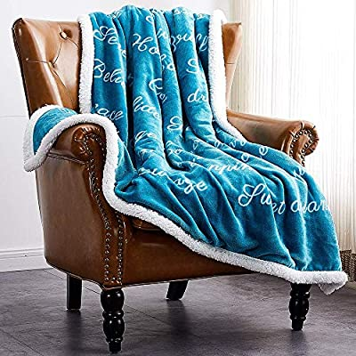 Rose Home Fashion RHF Super Soft Fleece Sherpa Comfort Caring Gift Throw Blanket, Fuzzy Blanket - Get Well Soon Gift for Women&Men - Plush Throw Blanket(Twin), Teal - Enjoy your family happy hours with RHF warm flannel fuzzy blankets. This blanket delivers happiness and positive spirit, reminds you that your friends and family are always with you This super soft comforting blanket is made of high-quality fuzzy and sherpa material. It is designed for elegant and luxurious grade This plush blanket is a good choice as a gift, which conveys the concern and blessing to family, friends, patients, etc. It not only brings warmth and comfort, but also brings you care from family and friendship - blankets-throws, bedroom-sheets-comforters, bedroom - 614Bd78tIpL. SS400  -